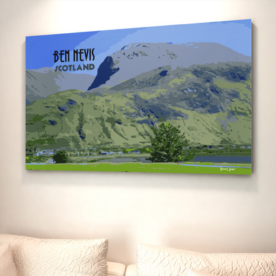 Ben Nevis canvas print | Wall Art | Gift for Mountaineers