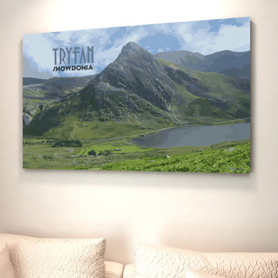 Tryfan canvas print | wall art | Gift for Mountaineers