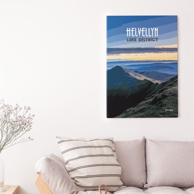 Helvellyn canvas print | Wall Art | Gift for Mountaineers