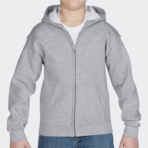 TSS Junior Standard Full-Zip Hoodie – Grey