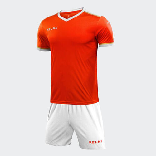 Kelme Junior Tecnica Jersey & Short Set – Neon-Orange/White