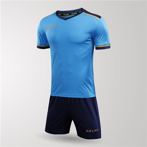 Kelme Junior Tecnica Jersey & Short Set – Neon-Blue/Dark-Blue