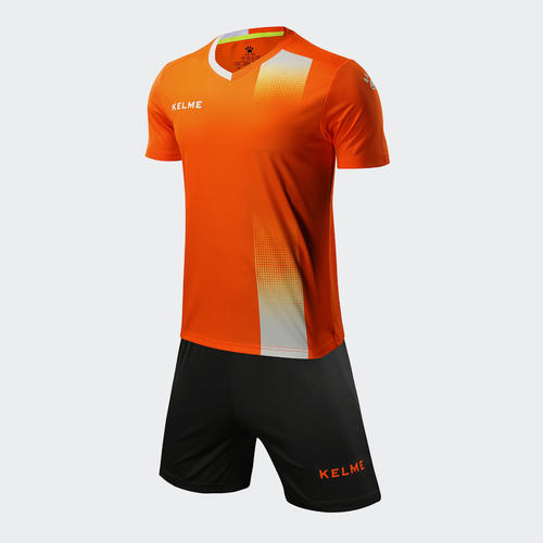 Kelme Junior línea Jersey & Short Set – Neon-Orange/White