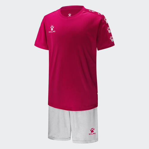 Kelme Junior Cinta Jersey & Short Set – Rose/White