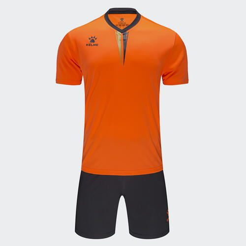 Kelme Junior Volta Jersey & Short Set – Neon-Orange/Dark-Grey