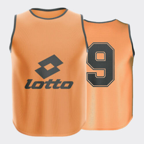 Lotto Mesh Numbered Bib Set – Orange