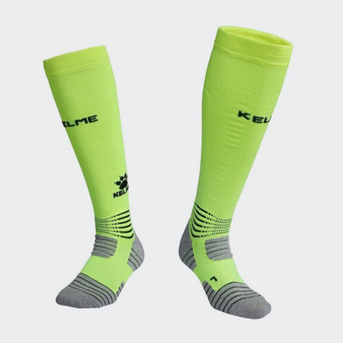 Kelme Patada Long Calf Football Sock – Neon-Green/Black