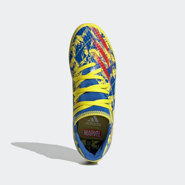 adidas x Marvel Junior X Ghosted.3 FG – Blue/Red/Yellow