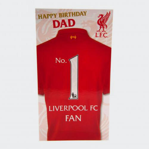Liverpool Birthday Card for Dad