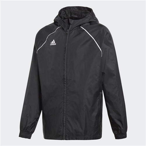adidas Junior Core 18 Rain Jacket – Black/White