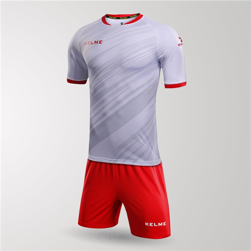 Kelme Junior Extremo Jersey & Short Set – White/Red