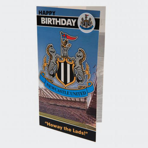 Newcastle United Birthday Card & Badge