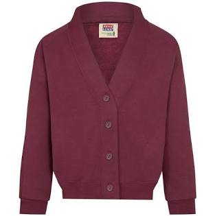 Maroon Cardigan with logo