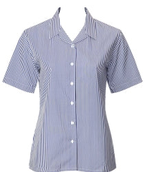 Trutex Navy and White striped blouse