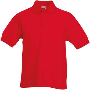 Red Poloshirt with logo