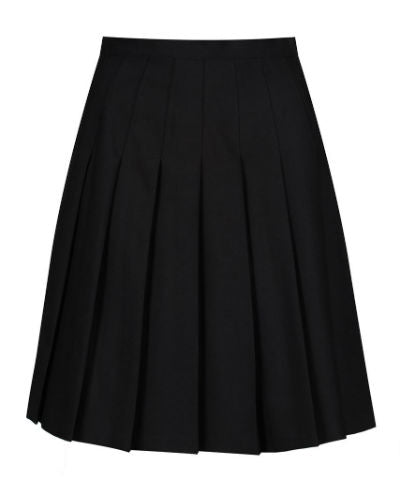 Black Stitch down Pleated Skirt