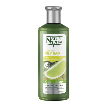 NaturVital Sensitive Oily Hair Shampoo (Lime)