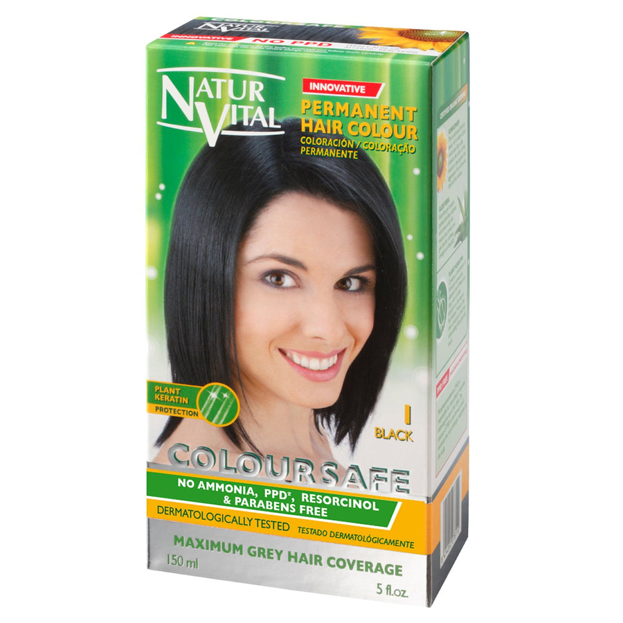 NaturVital ColourSafe Permanent Hair Dye - Black (1)