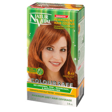 NaturVital ColourSafe Permanent Hair Dye - Hazelnut (6.43)