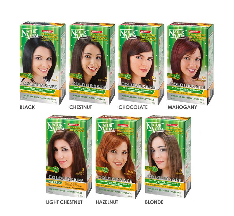 NaturVital ColourSafe Permanent Hair Dye - Mahogany (5.5)