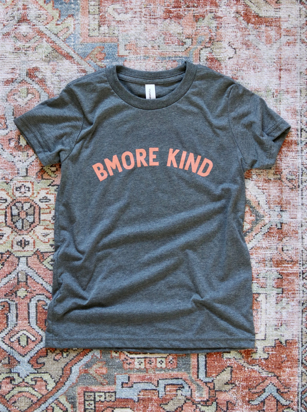Bmore Kind Youth T-Shirt — Peach