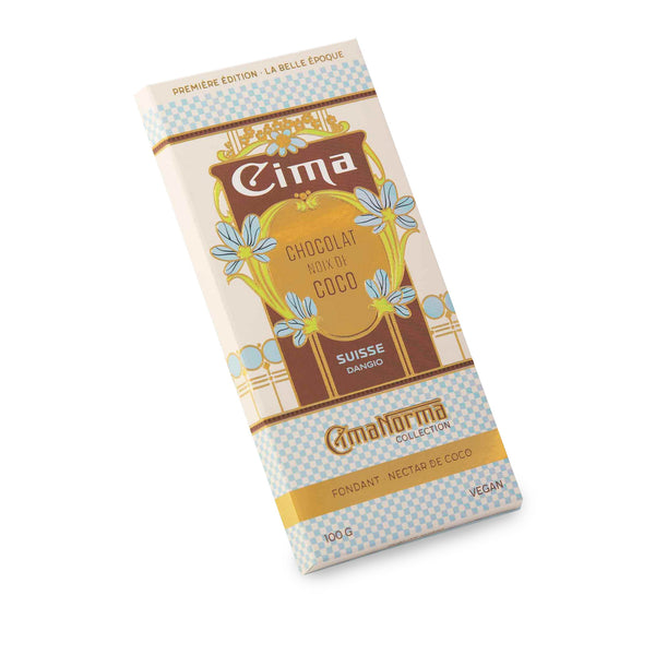 Organic Swiss Dark Chocolate with Coconut - CimaNorma