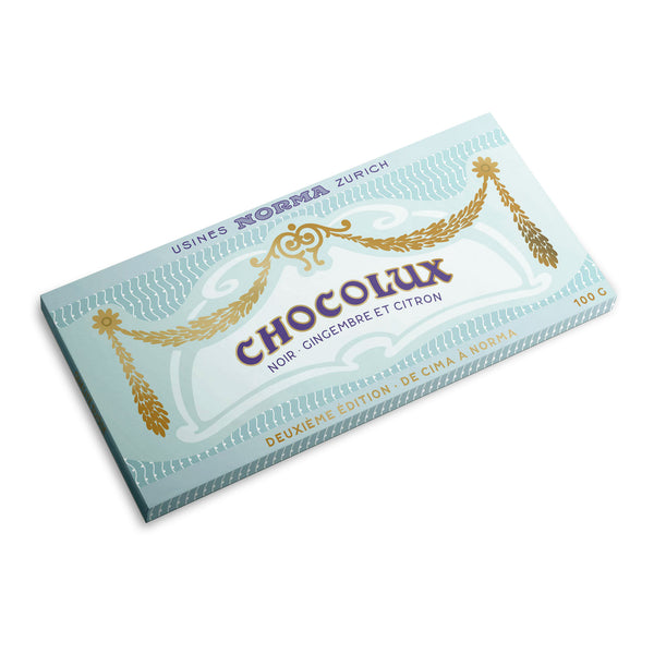 Organic Swiss Dark Chocolate with Ginger and Lemon - CimaNorma
