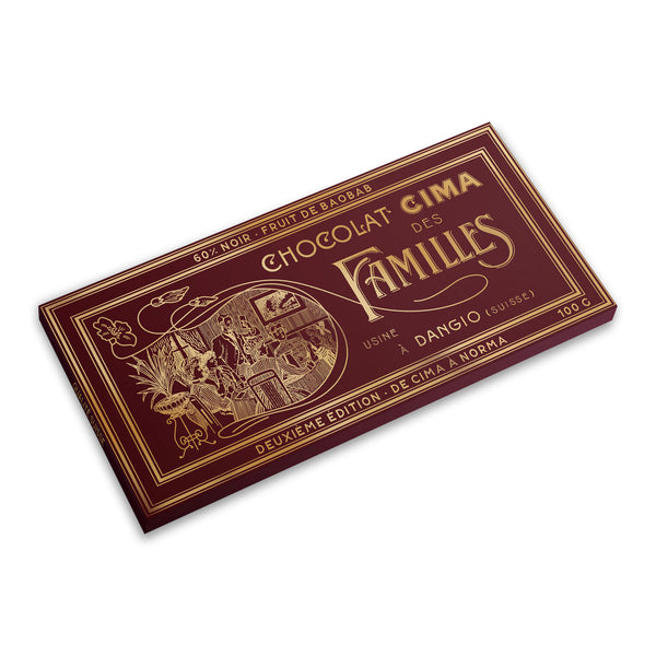 Organic Swiss Dark Chocolate 60% with Baobab Fruits - CimaNorma