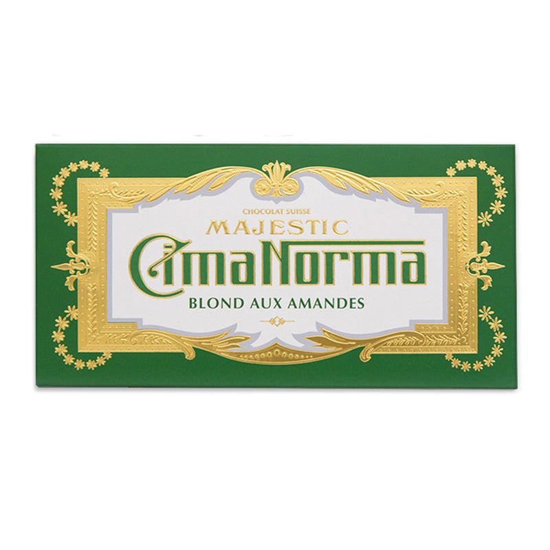 Organic Swiss Blonde Chocolate with Almonds - CimaNorma