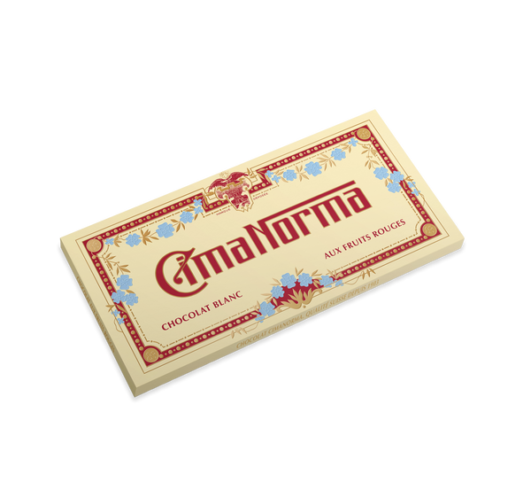 Bio Swiss White Chocolate with Red Fruits - CimaNorma