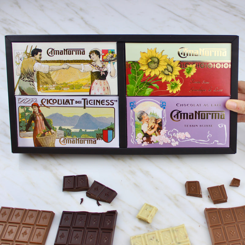 Ticino Edition - CimaNorma Bio Swiss Chocolate Collection Box