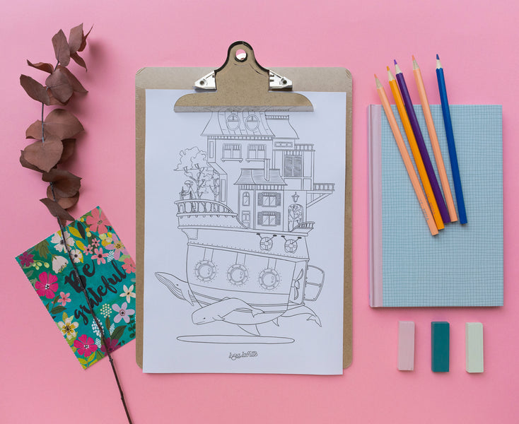 Coloring Art - Boat House