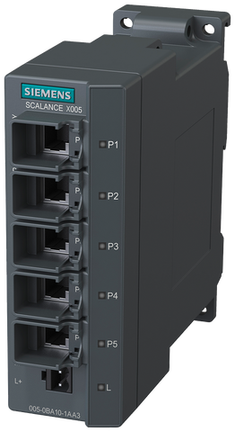 SCALANCE X005 unmanaged IE Switch - 5x 10/100 Mbit/s RJ45 - 6GK5005-0BA10-1AA3