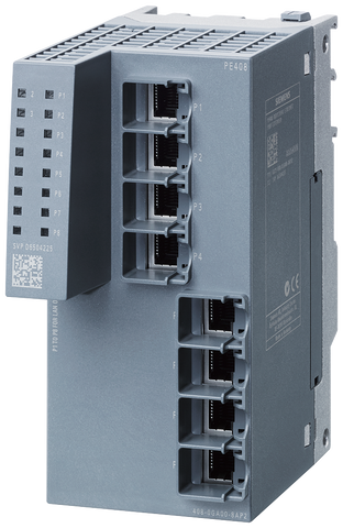 PE408 Port Extender for SCALANCE XM-400 managed modular IE switch - extension by 8x 10/100/1000 Mbit/s RJ45 - 6GK5408-0GA00-8AP2