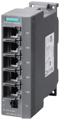 SCALANCE X005EEC unmanaged IE Switch - 5x 10/100 Mbit/s RJ45 - 6GK5005-0BA10-1CA3