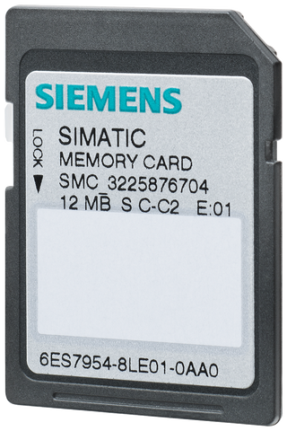 SIMATIC S7 MEMORY CARD - S7-1X00 CPU - 12 MB - 6ES7954-8LE03-0AA0