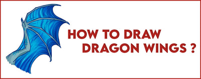 HOW TO DRAW DRAGON WINGS ?