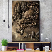 Scary Chinese Dragon Wall Art | Autumn Dragon