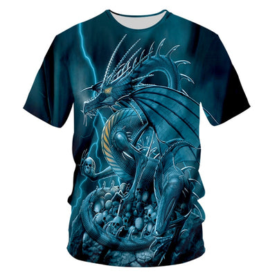 Blue Dragon T-Shirt | Autumn Dragon
