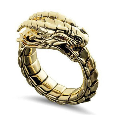 Chinese Dragon Ring Gold | Autumn Dragon
