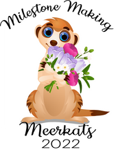 Load image into Gallery viewer, Milestone Making Meerkat with Flowers