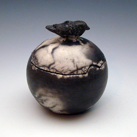 "Lidded Vessel ""Raven"""