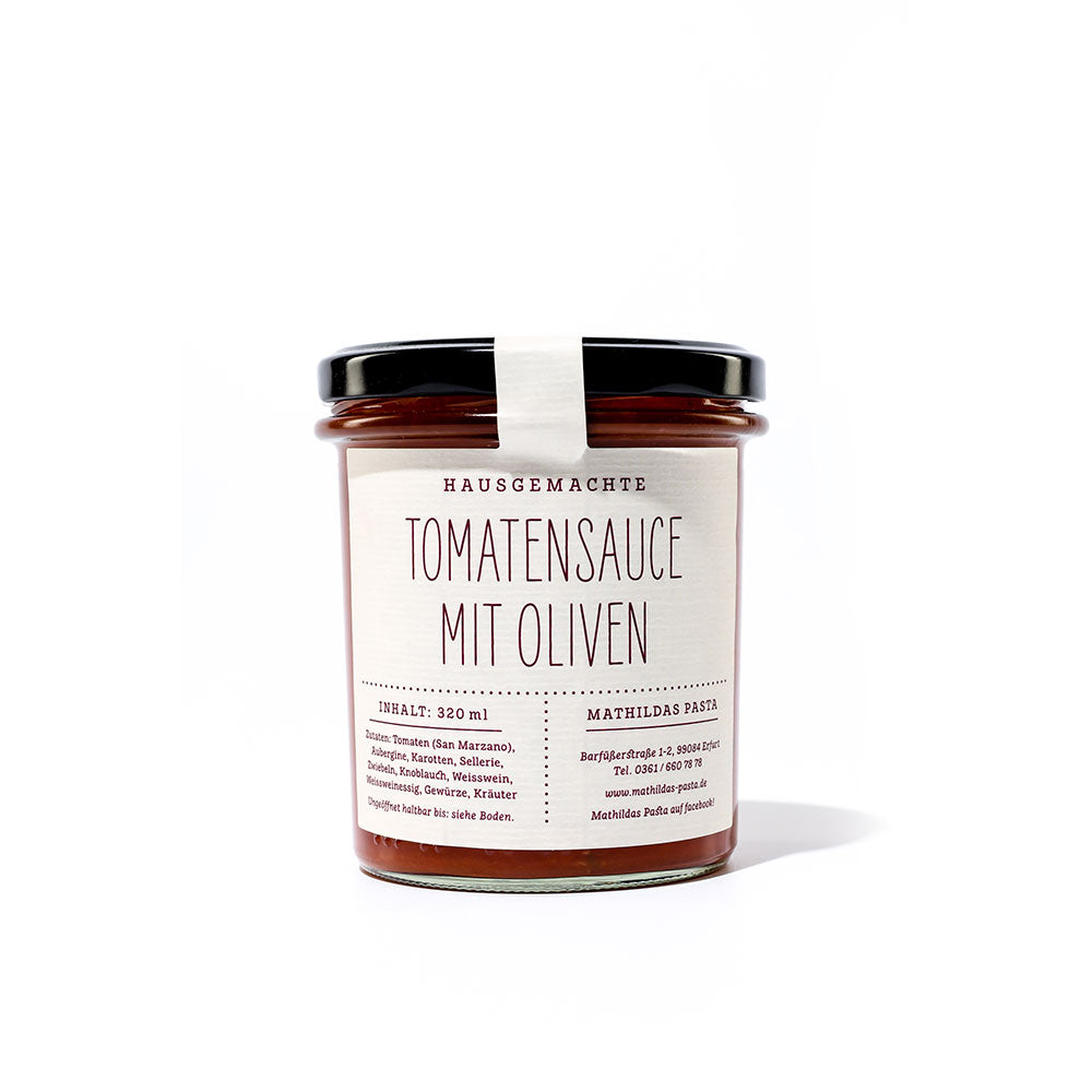 Tomatensauce Oliven