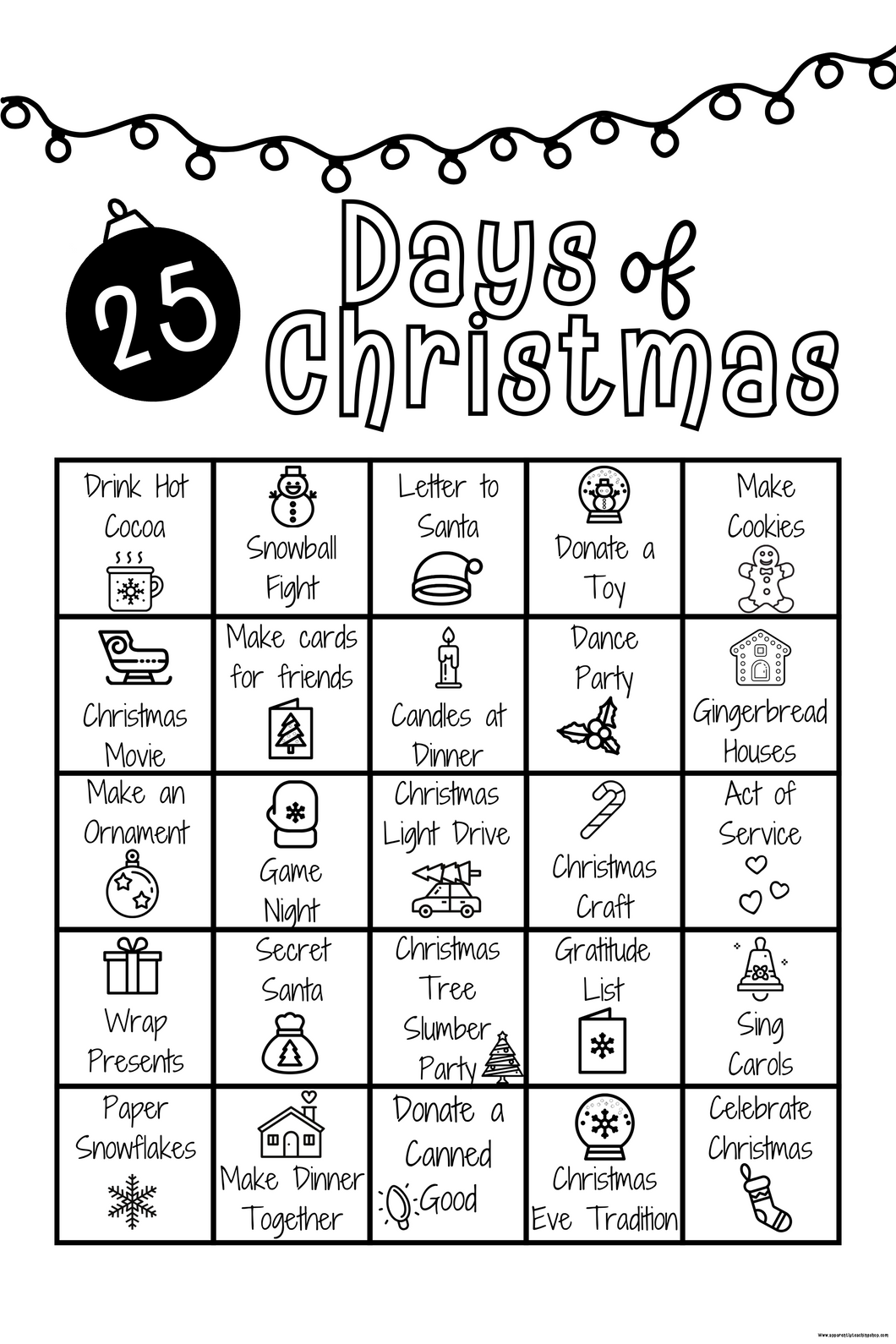 25 Days of Christmas Advent
