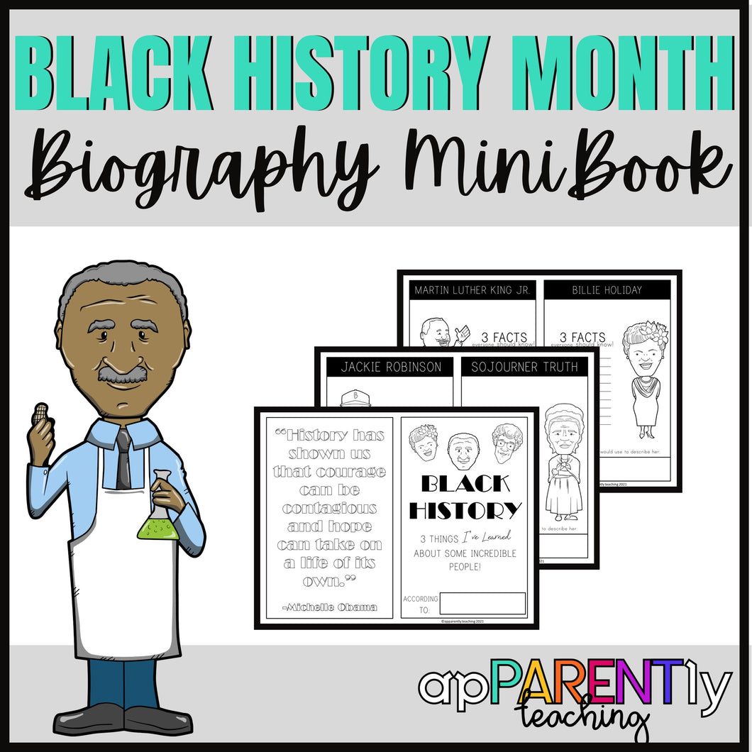 Black History Month Mini Book Instant Download