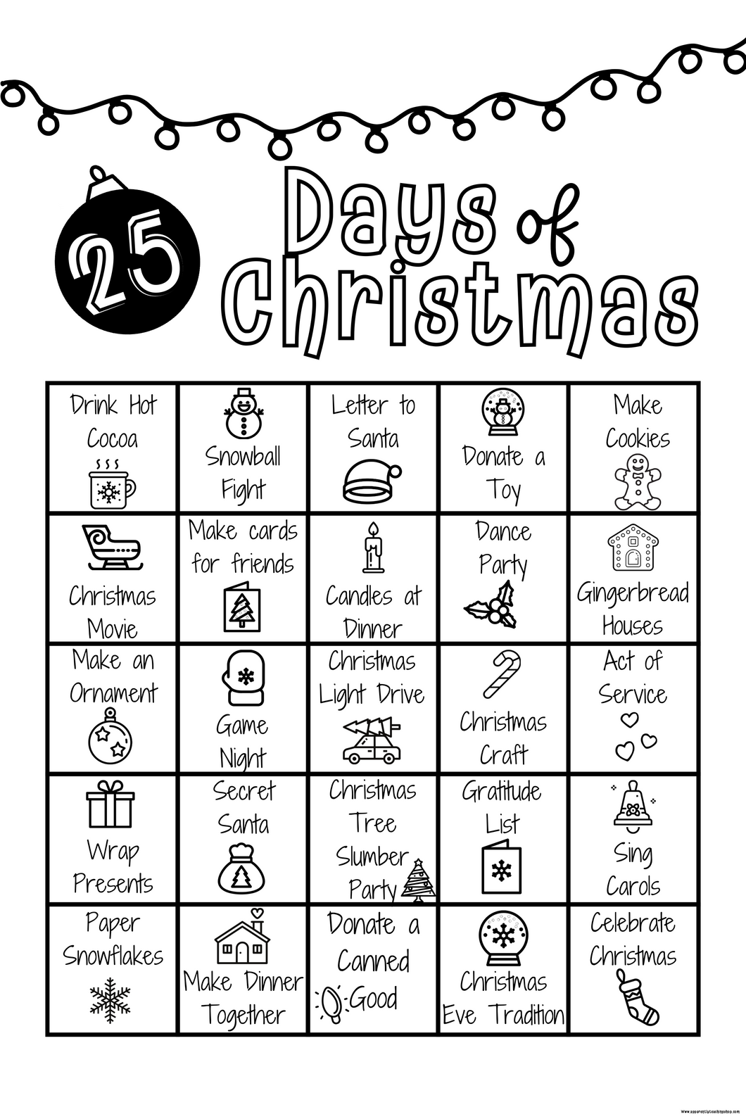 25 Days of Christmas Advent-Digital Download