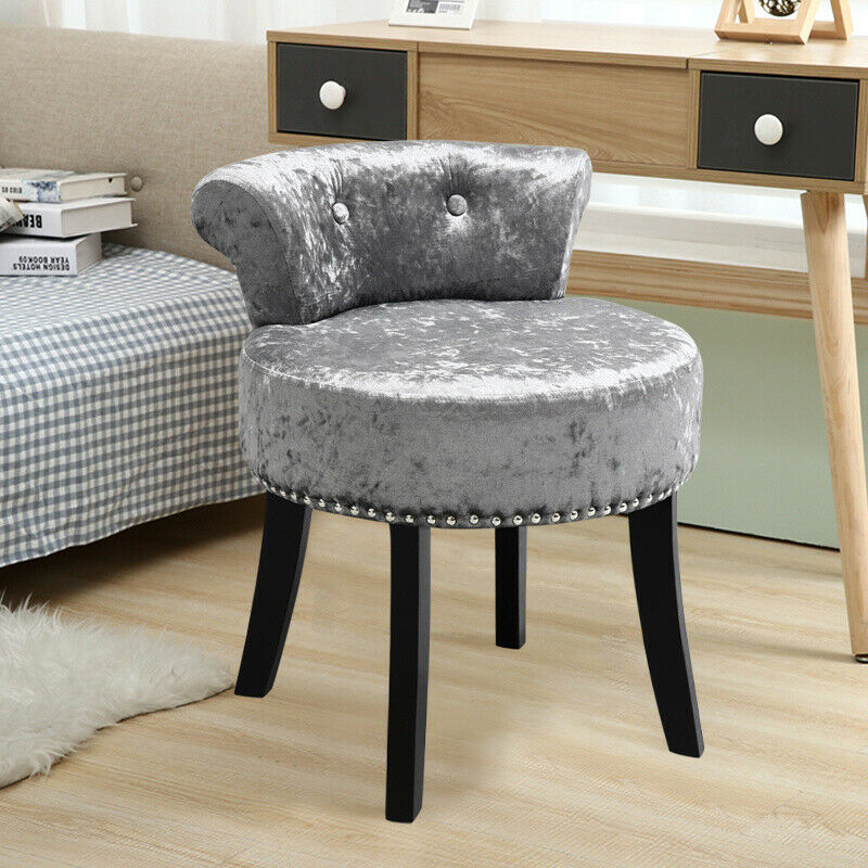 Velvet Dressing Table Chair Vanity Stool Piano Stool Bedroom Side Dining Chairs