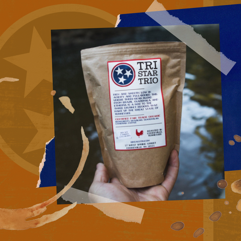 Tristar Trio coffee from Broast Tennessee Coffee Roasters, available from Red Eye Bistro