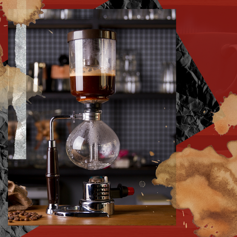 Siphon coffee brew pot. Image by Red Eye Bistro.