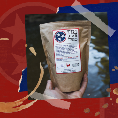 Tristar Trio coffee from Red Eye Bistro, roasted by Broast Tennessee Coffee Roasters
